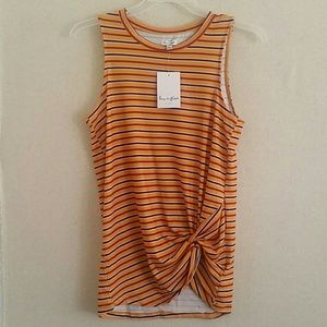 Striped Tank with Gather Detail Sz Juniors M.